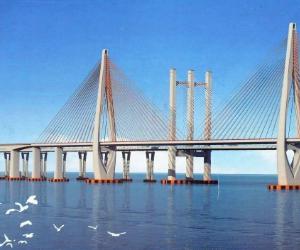 2021年8月泉州湾特大桥铣刨施工